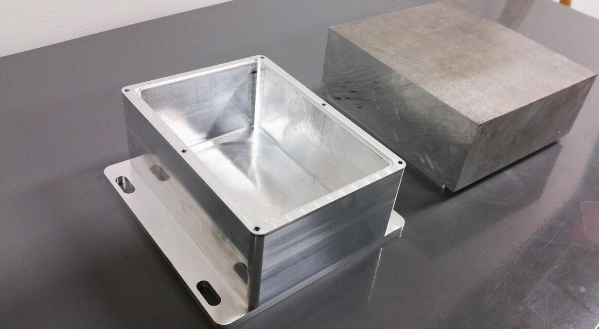Фрезеровка детали из алюминия